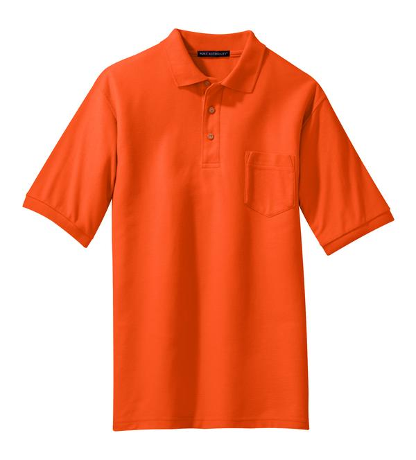 Men 39 s tall silk touch pocket polo shirt for Big and tall polo shirts with pockets