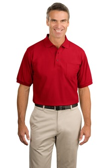 Men's Tall Silk Touch Pocket Polo Shirt