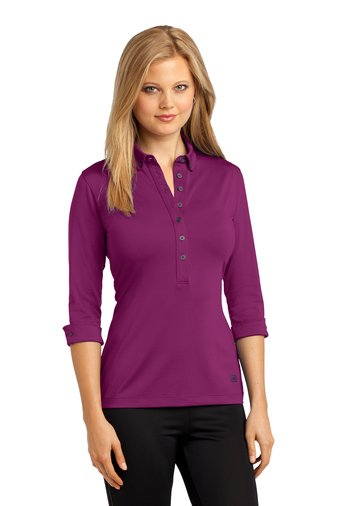 3 4 sleeve polo shirts womens