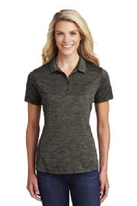 Ladies PosiCharge Electric Heather Polo